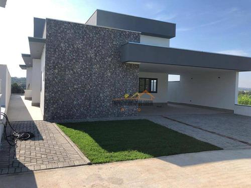 Casa Com 3 Dormitórios À Venda, 243 M² Por R$ 770.000,00 - Condomínio Reserva Central Parque - Salto/sp - Ca1768
