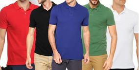 Kit C 5 Camisa Gola Polo Camiseta Pa Lisas Atacado Uniforme