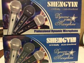 Kit Com 2 Microfone Shengin Sy-91 Frete Grátis