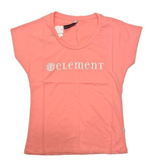 Remera Element Logo Tee Mujer Coral