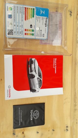 Manual Do Proprietario Toyota Corolla 2018