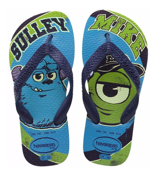 Ojotas Disney Monster University Havaianas - Mundo Manias