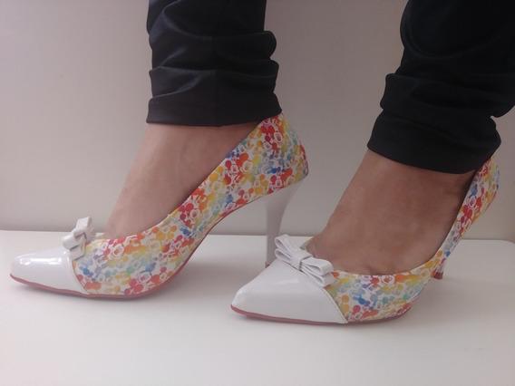 Sapato Feminino - Scarpin Salto 8cm Mulher De Luxo