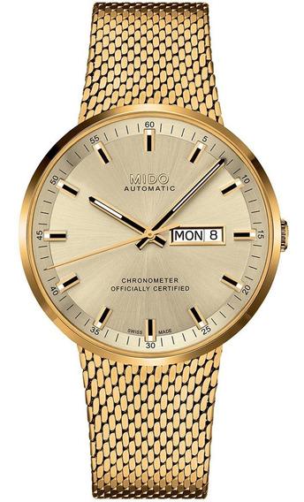 Reloj Mido Commander Il Icône Gold M0316313302100 Automático