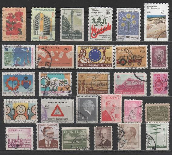 Turquia - Coleção De Selos Antigos Diferentes - 8011