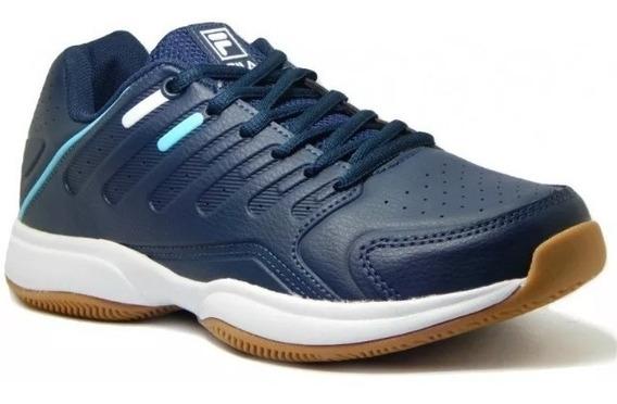 Tênis Fila Lugano 6.0 - Marinho/branco/azul