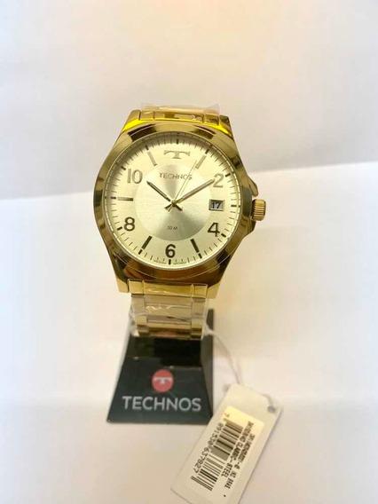 Relógio Technos Unissex Dourado 2415db/4d