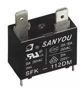 Relé Sanyou Sfk-112dm 12v 20a Ar Condicionado