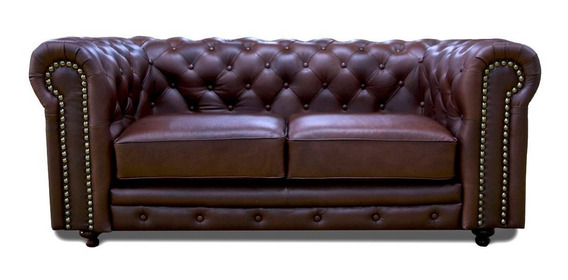 Love Seat Piel - Chesterfield 185 - Conforto Muebles