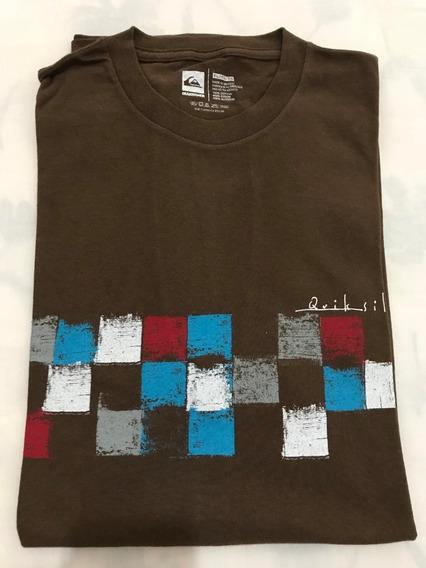 Camiseta Básica Quiksilver Tamanho Gg Xl Original Bom Estado