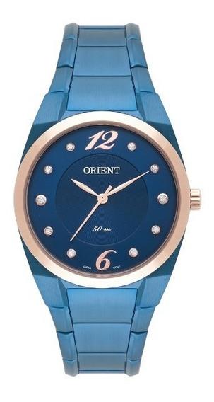 Relógio Orient Feminino Aço Fundo Azul 33840