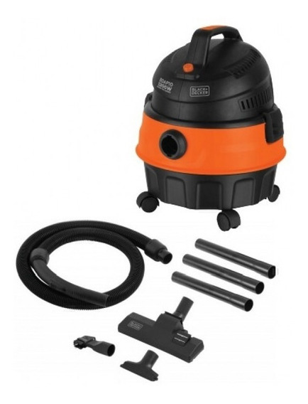 Aspirador Soprador De Pó E Água 1200w Black Decker Bdap10
