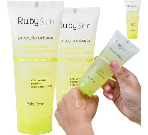 Imagem 1 de 10 de Sabonete Gel De Limpeza Facial Proteção Urbana Ruby Rose
