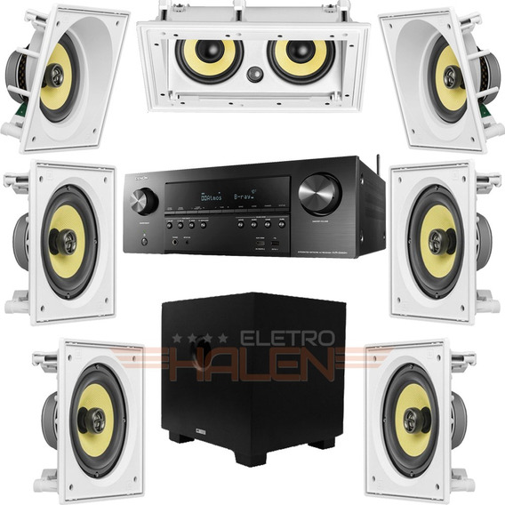 Kit Home Theater 7.1 Caixas Jbl Receiver Denon Subwoofer Aat