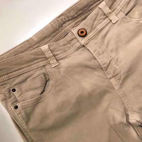Pantalon Jean Beige Talle 40 Zara