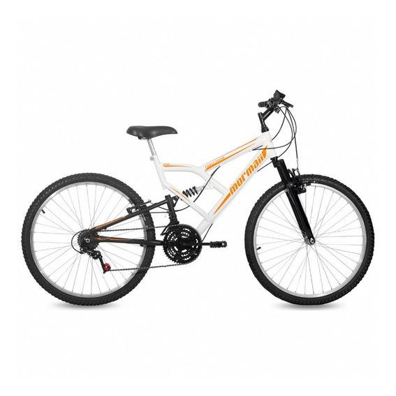 Bicicleta Mormaii Fullsion Aro 26 Branca / Preta