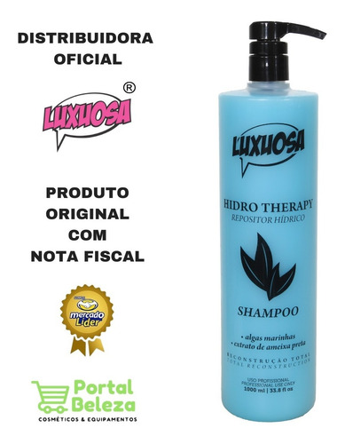 Shampoo Hidro Therapy 1 Litro - Luxuosa Cosméticos