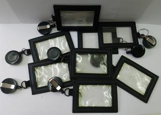 Porta-carnet, Negro Con Yoyo Incluido X 8, Nuevos