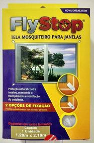 Tela Mosquiteiro Para Janelas Flystop 1,20 X 2,10.m