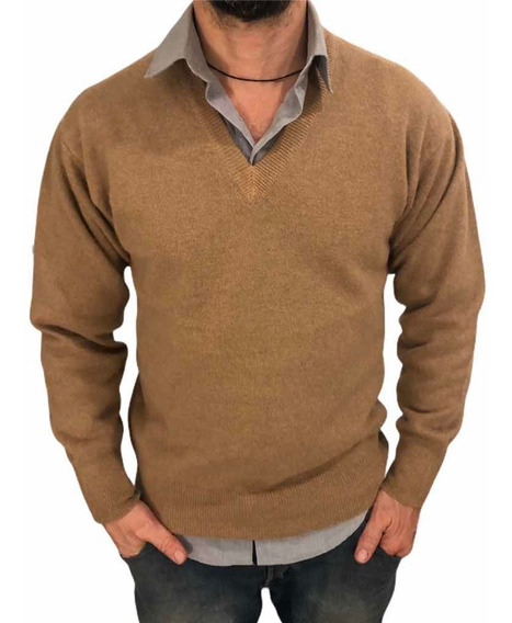 Pulover Sweaters Bremers Cachemir Clasicos Escote V Chaleco