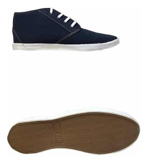 Zapatos Botín Perry Ellis Hombre Mezclilla Casual Moderno