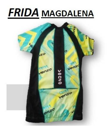 Remera Ciclismo Jersey Venzo Frida Magdalena Dama - Racer