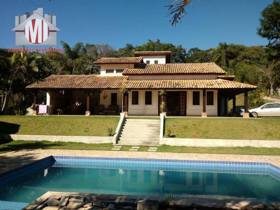 Chácara Deslumbrante Com 04 Dormitórios À Venda, 3800 M² Por R$ 490.000 - Zona Rural - Pinhalzinho/sp - Ch0470
