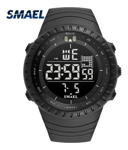 Relógio Smael 1237 Preto Esportivo À Prova D