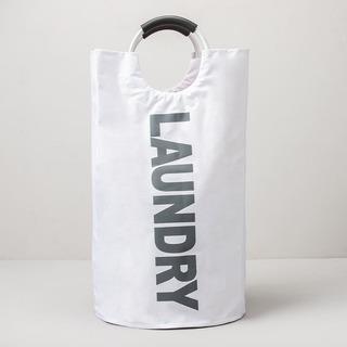 Cesto Para Ropa Mediano Frase Laundry Con Manijas