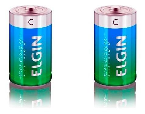 Pilhas Elgin Médias C Alcalinas C/2 (82156