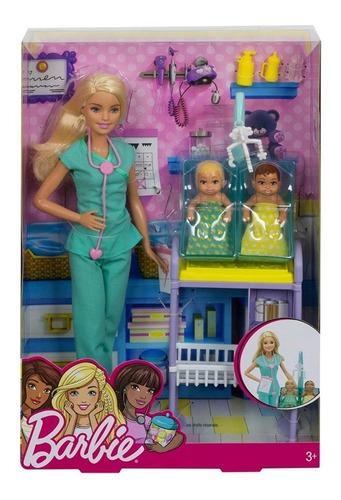 Alta exposición Confuso Melodrama  Oferta * Barbie Profesiones Doctora Pediatra Dra Set Bebes | Mercado Libre