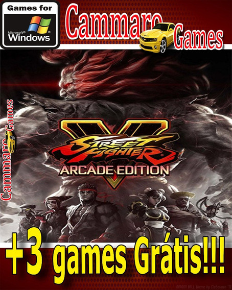 Street Fighter V:arcade Edition Em Português+ 3 Games Grátis