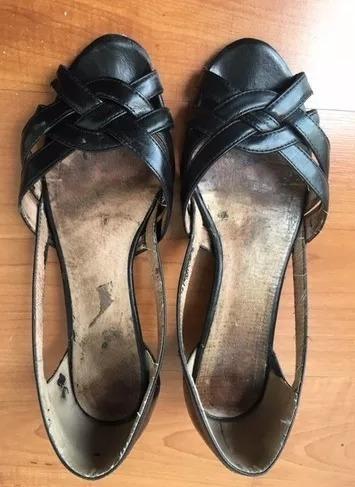 Zapatos Sandalias Nine West Negras Talle 8 Usa 25 Mex