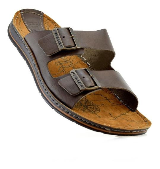 Sandalias Chinelas Cuero Pegada 132804-03 Elis Calzados
