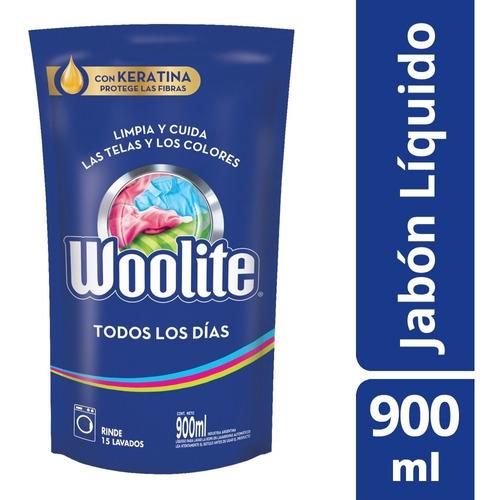 Jabón Líquido Ropa Todos Los Días Repuesto Woolite 900 Ml