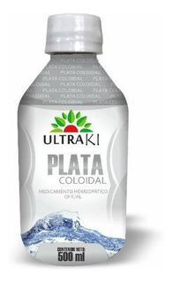 Plata Coloidal 500ml Ultraki Medicamento Homeopatico Oficial