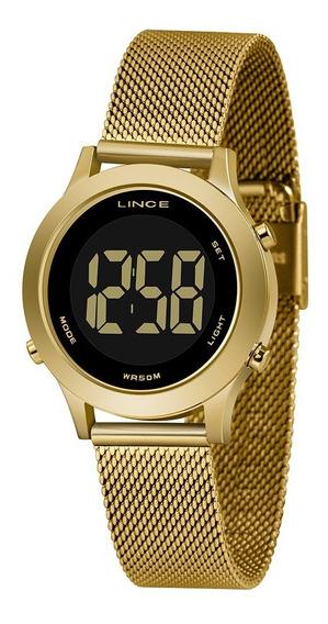 Relógio Lince Digital Feminino Dourado Sdph110l