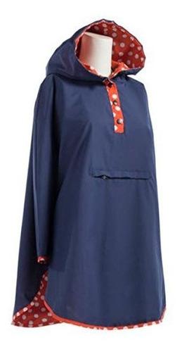 Poncho De Lluvia Reversible Para Mujer Totes