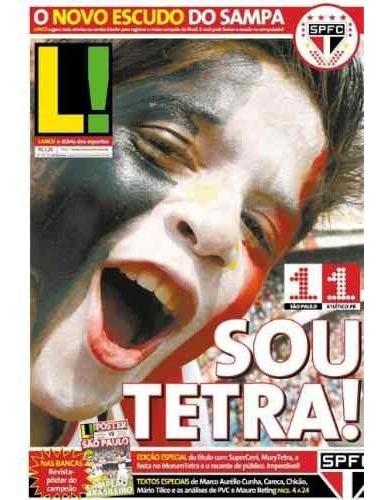 +m+ Jornal Lance São Paulo Tetra Campeão Brasileiro 2006