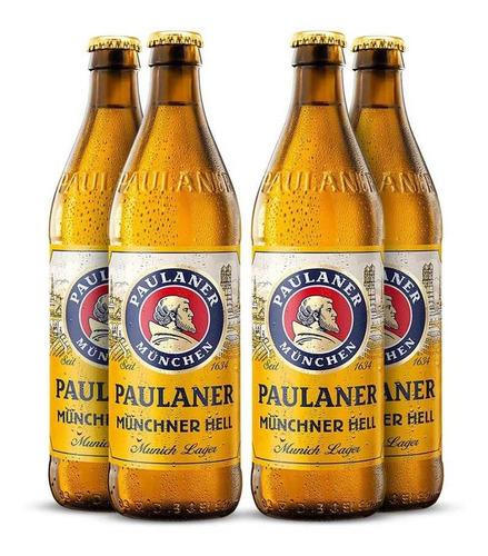 Imagem 1 de 4 de Kit 4 Und Cerveja Paulaner Munchner Hell 500ml