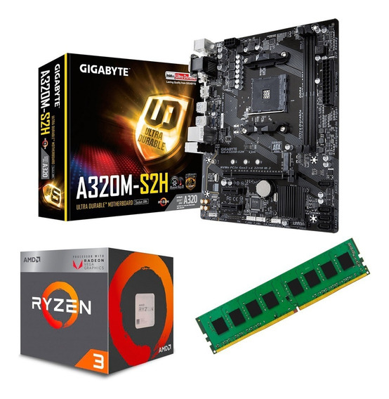 C132 Combo Actualizacion Amd Ryzen 3 + Mother + 4gb Mexx