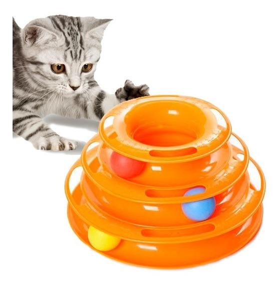Brinquedo Interativo Torre De Trilhos Para Gatos Pets
