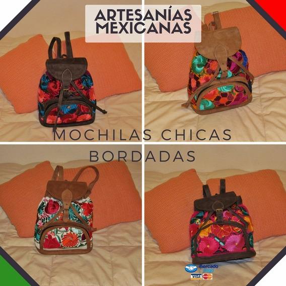 Mochilas Chicas Con Bordado Mexicano