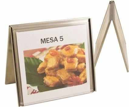 12 Display De Mesa Liso Aço Inox Ref 280