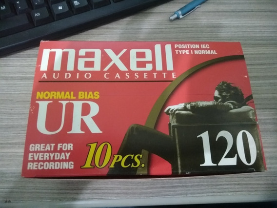 Caixa C/10 Fitas Cassete Maxell Ur 120 - Nova Lacrada