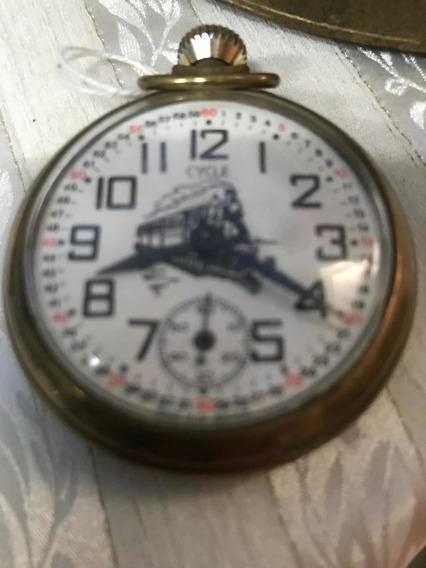 Reloj Antiguo Del Ferrocarril Echó En Inglaterra