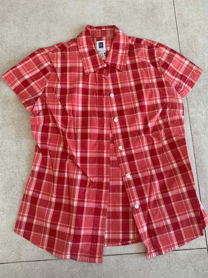 M10. Camisa De Mujer Gap Importada Eeuu Original Roja