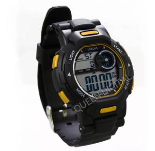 Reloj Sumergible Hombre Deportivo Alarma Cronometr Luz 50mts