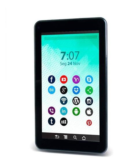 Tablet Everex 7 Quadcore 1gb 8gb Android 8.1 Go Preto