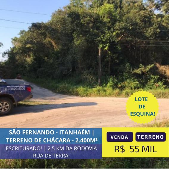 Terreno De Chácara De Esquina Em Itanhaém Litoral Sul De Sp